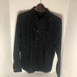 7 for all mankind Black Printed Button Down (S)